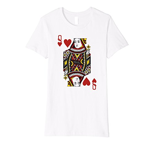 Womens QUEEN OF HEARTS | Card Suit Halloween Costume, Poker T shirt Large (Queen Of Hearts Clothes)