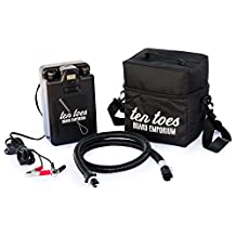 Ten Toes Boards Emporium 12V iSUP Electric Pump for Stand-Up Paddleboard, Black