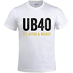 JMPTWY Mens Rock Band Ub40 2016 Tour O-Neck Shirt White