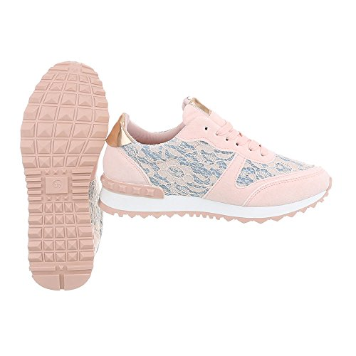 Design 100 Sneakers Ital Low Donna Piatto da Scarpe Clair G Rose Sneaker PTTYgdx