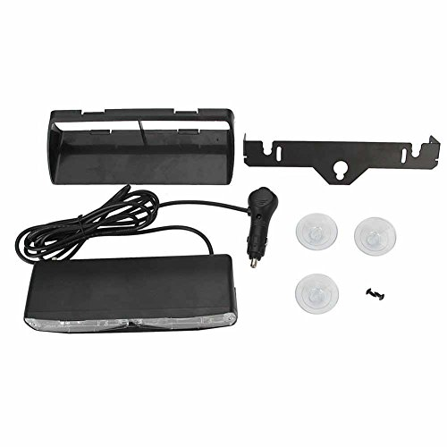 16 Led Emergency Strobe Lights Bar With 18 Flashing Mode For Interior Roof Dash Windshield