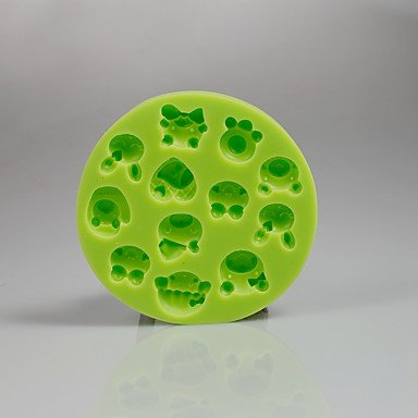 HJLHYL Cartoon Animal Face Silicone Chocolate Mold Fondant Cupcake Decoration Sugarcraft Tools Polymer Clay Candy Making
