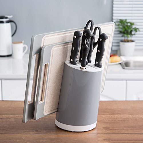 (Gotian Storage Holder Shelf Simple Versatile Kitchen Tool Storage Rack Kitchen Knife Cutting Board Holder Seat Frame for Kitchen, Living Room, Bedroom, Office (Grey))