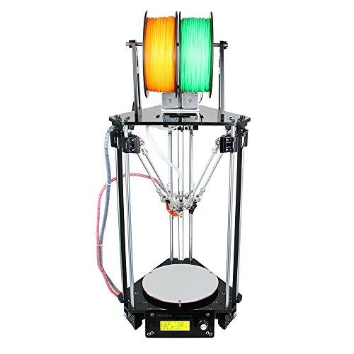 Geeetech Delta Rostock Mini G2s imprimante 3D , double extrudeuses, Supporte 4 types de Matériaux, Nivellement automatique