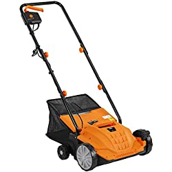 """VonHaus 2 in 1 Lawn Dethatcher & Aerator - 12 Amp 13"""" Corded Electric with 4 Working Depths"""