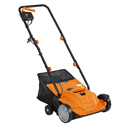 VonHaus 2 in 1 Lawn Dethatcher & Aerator - 12 Amp 13' Corded Electric with 4 Working Depths