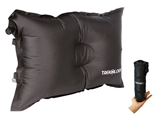 Trekology Self Inflating Camping / Lumbar Pillows - Compressible, Inflatable, Comfortable Air Travel Pillow Cushion for Back Support, Sleeping, Hiker, Backpacking, Camp, Outdoor, - Gear Gift Card Cycle