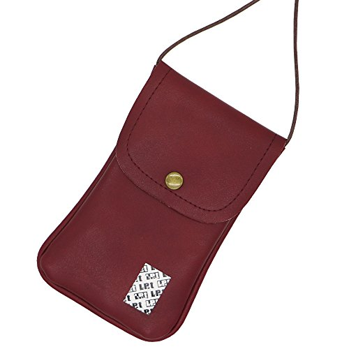 Leather Cellphone Neck Pouch
