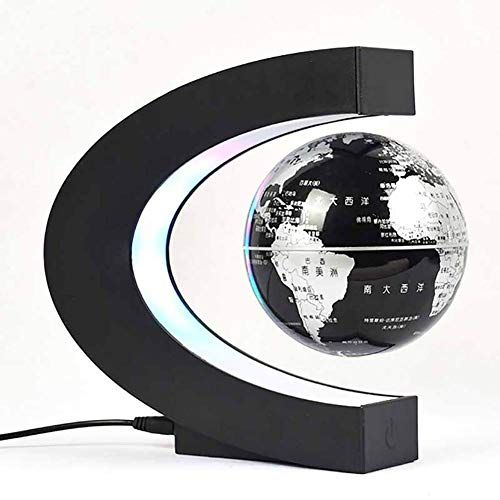 NOOYC Levitate Globe World Map, LED Light Floating Magnetic Levitation Nightlight for Children Educational Gift Home…