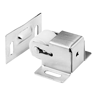 Slide-Co 164527 Cabinet/Closet Door Roller Catch, Satin Nickel