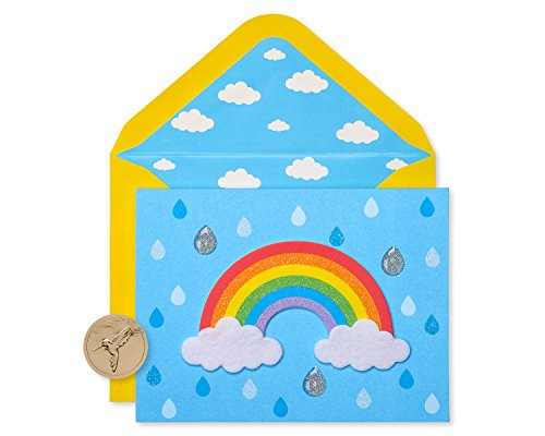 Papyrus Thank You Cards for Kids with Envelopes, Rainbow (8-Count)