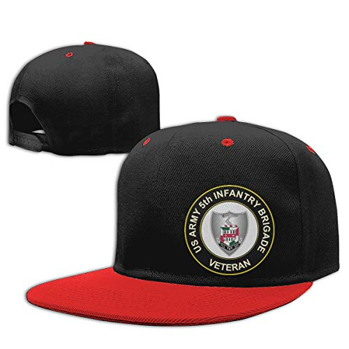 Ginu U.S. Army 5th Infantry Brigade Unit Crest Veteran Baseball Cap Ball Hat for Mens and Womens