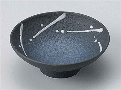 Black-Glaze-Itchin 6.3inch Set of 5 Medium Bowls Grey porcelain Made in Japan by Watou.asia