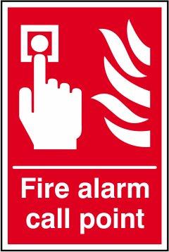 Alarmas de incendio pulsador de alarma - etiqueta de ...