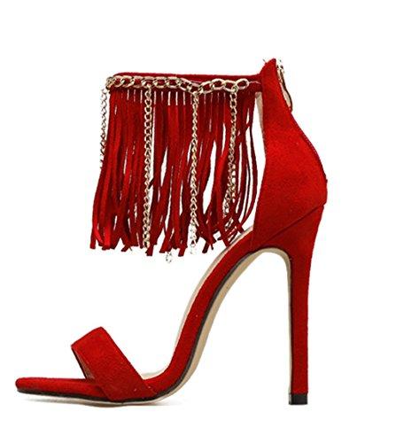 Kiiltävä Toe Naisten Peep Hääjuhlissa Roomalaisia Pumput Korkokenkiä Hyvät Nilkkalenkki Korkokengät Tupsu Sandaalit kengät pnZCxUwq8Z