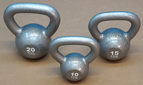 TDS Wide Handle Kettlebell Package 10, 15 & 20 lb. by TDS