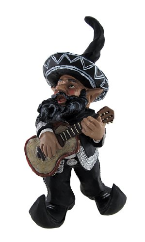 Mexican Mariachi Garden Gnome 14 In.