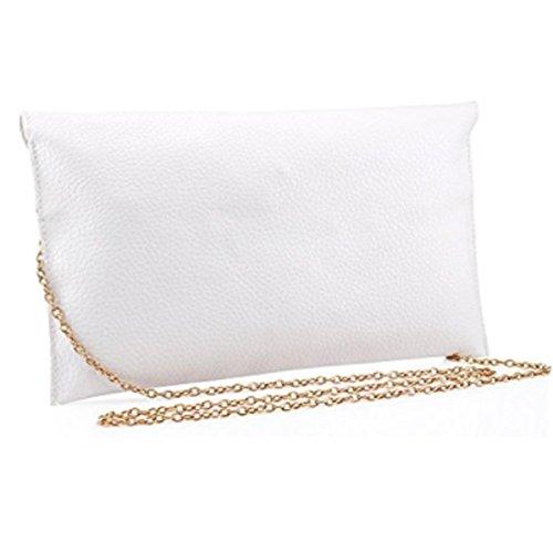 Amaze Fashion Women Handbag Shoulder Bags Envelope Clutch Crossbody Satchel Tote Purse Leather Lady Bag (White) by Amaze (Image #5)
