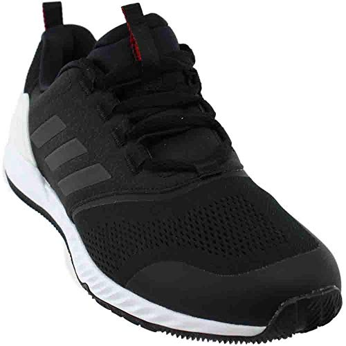 (adidas Men's Crazy Train pro, Black/Black/Scarlet, 11 D(M) US)