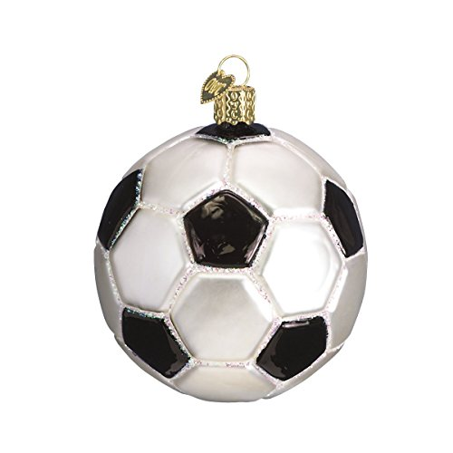 Old World Christmas Soccer Ball Glass Blown Ornament