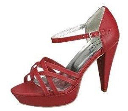 Andrea Conti Sandalette - Sandalias de Vestir de cuero sintético Mujer Rojo - Rouge - Rouge