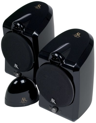 Acoustic Research AW877 900 Mhz Indoor Wireless Speakers Black Discontinued By Manufacturer