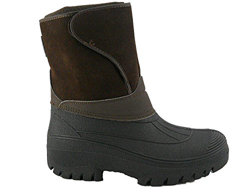 botas Wellys todos 4 nbsp;– de Negro invierno marrón equitación lluvia agua Mucker de UK nbsp;11 los Wellington nieve impermeable botas patio senderismo tamaños Unisex Farm estable esquí cálido Nuevo Z7qF17