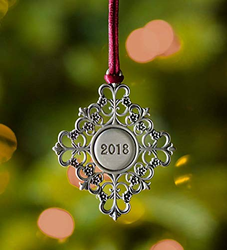 Plow & Hearth Solid Pewter Christmas Tree Ornament - Approx. 2.25 H - -