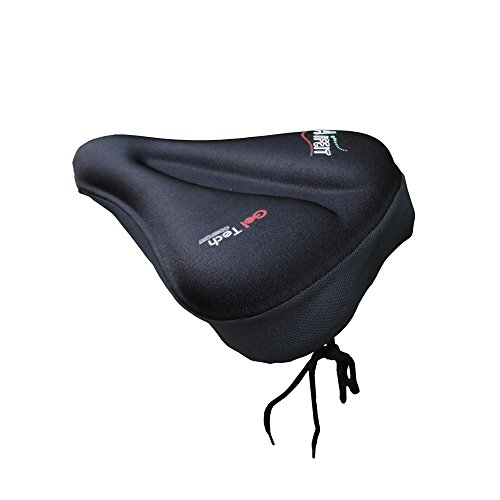 Ziekkas Soft 3D Silicone Double Gel Bike Seat Cover - Comfortable Bicycle Saddle Cushion Cover For Women and Men Fit Stationary