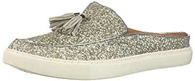 Gentle Souls Women's Rory Sneaker Mule with Tassel, Silver, 5.5 M US
