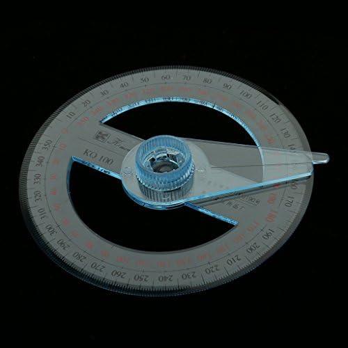 Rapporteur 360° 100mm Diamètre Outil De Mathématique Bureau Fourniture