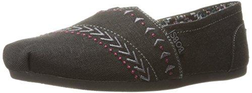 Skechers Bobs Womens Plush-feather Flat Black