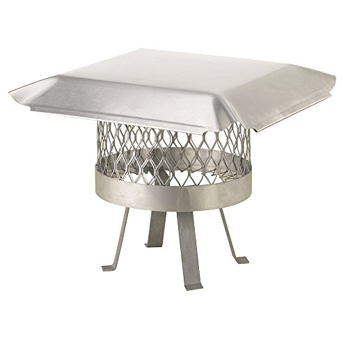 Draft King SS816U Round Slip In Stainless Steel Single Flue Chimney Cap with Legs Welded onto the Cap, 16
