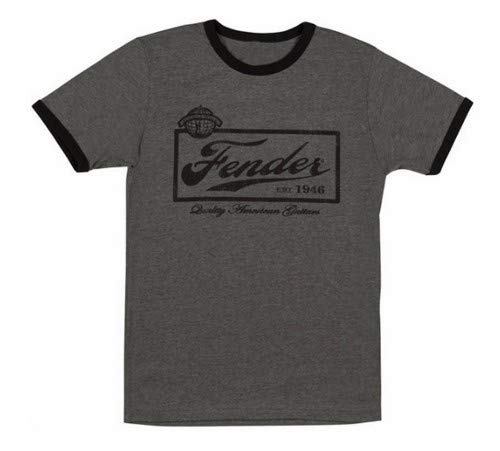 Fender Beer Label Men's Tee Shirt-Black Extra Large ()