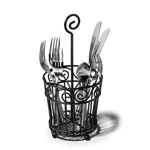 Generic yc us2 151102 254 ck newnew caddy scroll black silverware new scroll silv - Wrought iron flatware ...