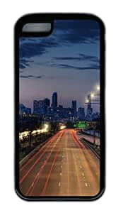 Customized Case Landscapes Cityscape TPU Black for Apple iPhone 5C