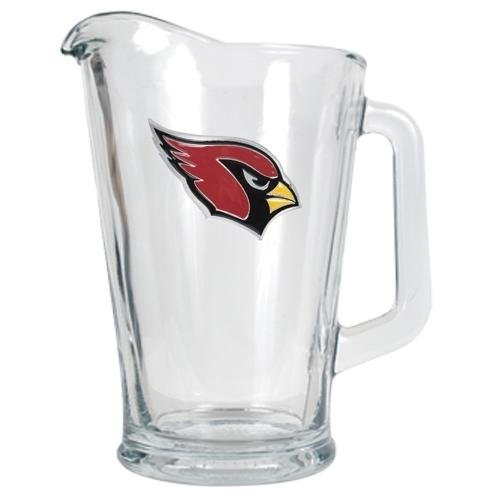 NFL Arizona Cardinals 60-Ounce Glass Pitcher - Primary Logo (Pitcher Cardinals Glass)