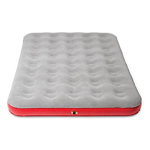 Coleman Quick Bed Plus Single High Airbed Mattress, Full Size, Red