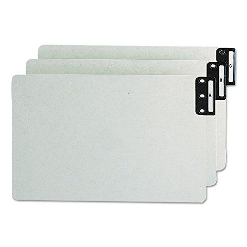 Flat Pressboard Metal Tab File (Smead 63276 Pressboard End Tab Guides, Vertical Metal Tabs, A-Z , Legal, Green, 25/set)