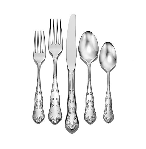 Martha Washington 20 Piece Set Flatware service for 4 stainless steel 18/10 Made in USA
