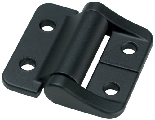 """Southco - E6-10-208-50 E6/ST Series Constant Torque Position Control Hinge with Holes, Aluminum Alloy, 1-1/2"""" Leaf Height, 7.99 in-lbf Symmetric Torque, Black"""
