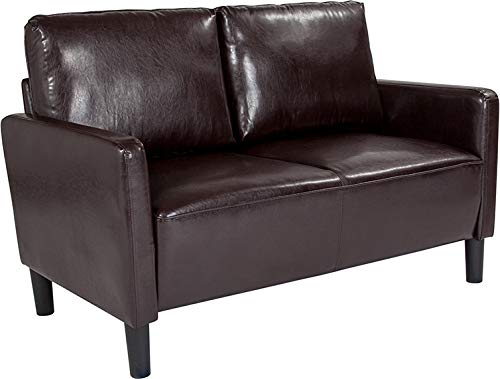 Flash Furniture Fabric Loveseat in Brown