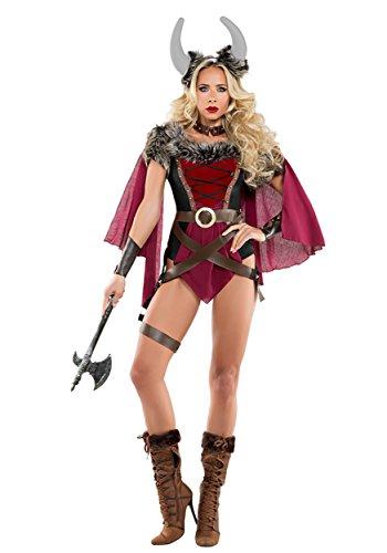 Women's Voluptuous Viking Costume - S