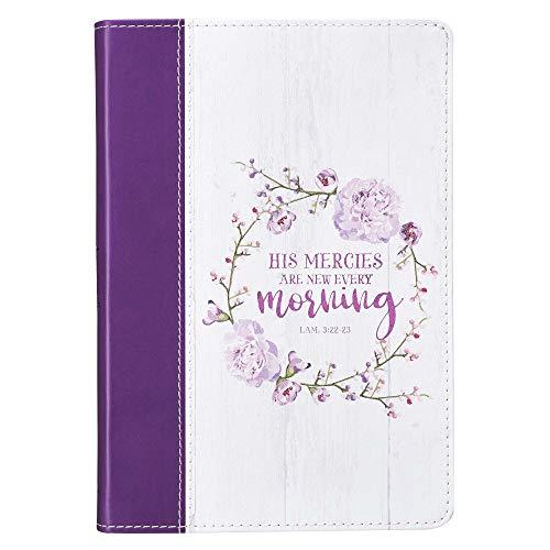 (His Mercies Are New Purple Slimline LuxLeather Journal - Lamentations 3:22-23)