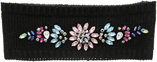 Betsey Johnson Women's Royal Glow Headband, black, ONE ()