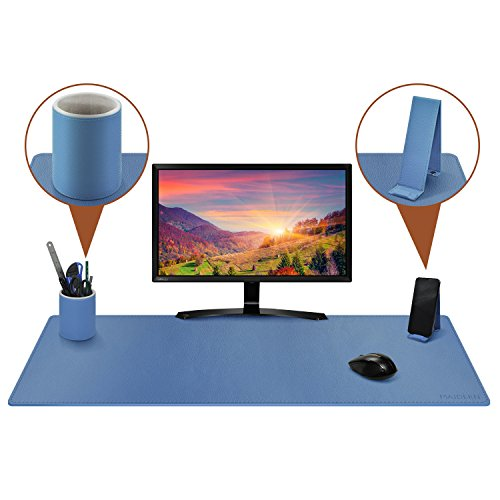 (with Phone Stand & Pen Holder Leather Desk Pad/Mat,39.4