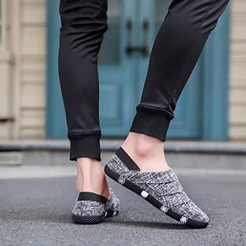 Color da Size Beige da da scarpe tendenza casuale 42 uomo scarpe di estate color Scarpe scarpe Black tela uomo selvaggia traspirante WangKuanHome uomo R5wqTgUnA