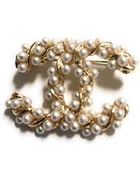 New Fashion womens C.C. diamond rhinestone Brooch Brooches pin Gift Silver bdeb9978d81c