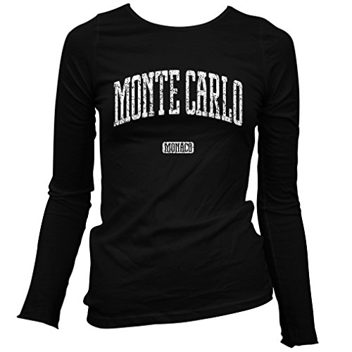 Smash Vintage Women's Monte Carlo Long Sleeve T-Shirt - Black, XX-Large (Grand Royale Poker)