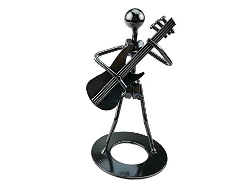 Vintage Iron Art Steel Music Man Figure Performer Home Bedroom Bar Display Decoration Ornament Birthday Gift (C46 Electric guitar) ()